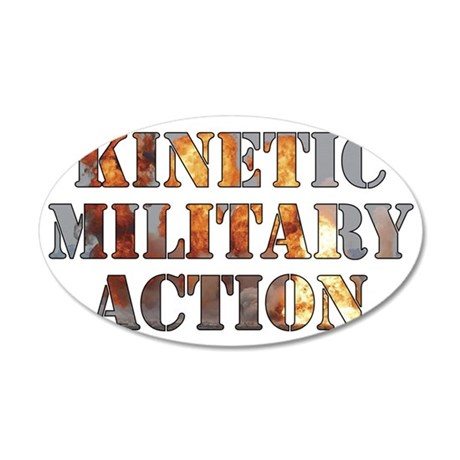 Kinetic Military Action-01 35x21 Oval Wall Decal