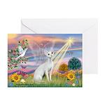 Cloud Angel & Devonshire Rex Greeting Cards (Pk o
