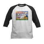 Cloud Angel & Devonshire Rex Kids Baseball Jersey