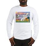 Cloud Angel & Devonshire Rex Long Sleeve T-Shirt
