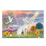 Cloud Angel & Devonshire Rex Postcards (Package o
