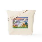 Cloud Angel & Devonshire Rex Tote Bag