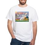 Cloud Angel & Devonshire Rex White T-Shirt