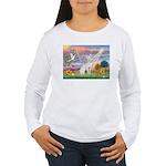 Cloud Angel & Devonshire Rex Women's Long Sleeve
