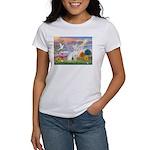 Cloud Angel & Devonshire Rex Women's T-Shirt