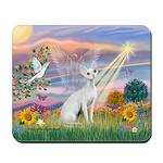 Cloud Angel & Devonshire Rex Mousepad