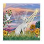 Cloud Angel & Devonshire Rex Tile Coaster