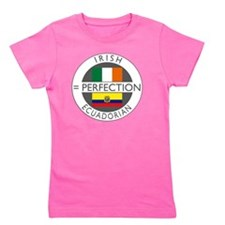 irish equadorian flags round Girl's Tee