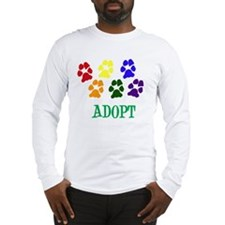 Rainbow Paws Adopt Long Sleeve T-Shirt