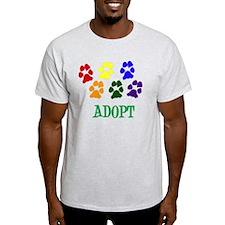 Rainbow Paws Adopt T-Shirt