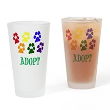 Rainbow Paws Adopt Drinking Glass