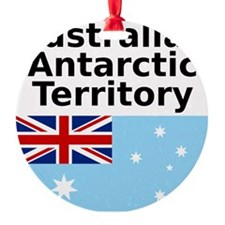 Antarctica1-WHITE Round Ornament