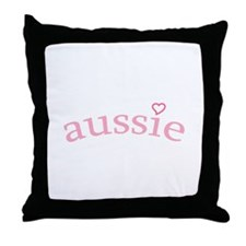 """Aussie with Heart"" Throw Pillow"