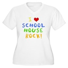 schoolhouserockwh Women's Plus Size V-Neck T-Shirt