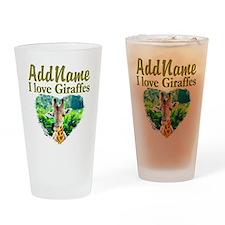 LOVE GIRAFFES Drinking Glass