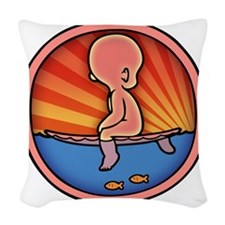 surf-womb-2-T Woven Throw Pillow
