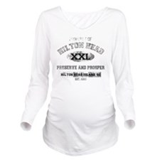 property of HILTON H Long Sleeve Maternity T-Shirt