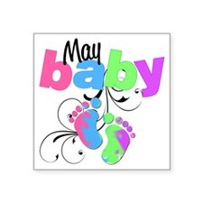 "may baby Square Sticker 3"" x 3"""