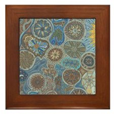 Abstract Thoughts Framed Tile