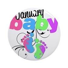 Jan baby Round Ornament