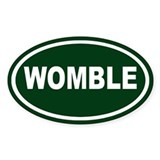Womble Euro Oval Decal