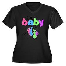 june baby Women's Plus Size Dark V-Neck T-Shirt