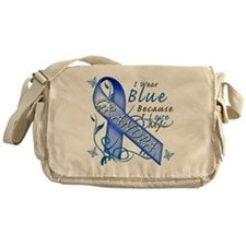 I Wear Blue Because I Love My Grandp Messenger Bag