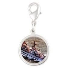 corry ddr notecard Silver Round Charm