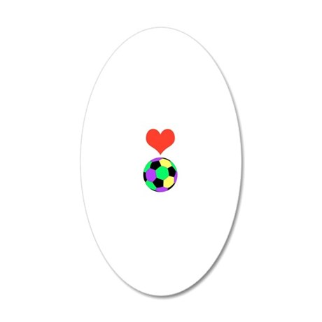 Love Soccer Itouch2 Itouch4  20x12 Oval Wall Decal