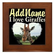 CUTE GIRAFFE Framed Tile