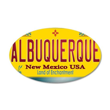 newmexico_licenseplate_albuq 35x21 Oval Wall Decal