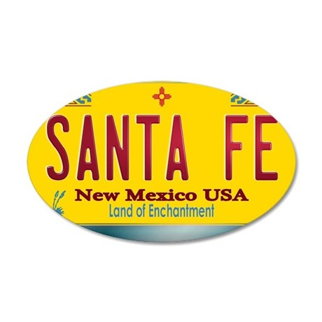 newmexico_licenseplate_santa 20x12 Oval Wall Decal