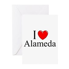 """I Love Alameda"" Greeting Cards (Pk of 10)"