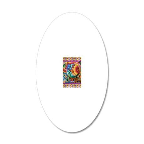 Mexican_String_Art_Image_Sun 20x12 Oval Wall Decal