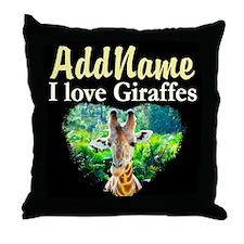 GIRAFFES RULE Throw Pillow