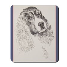 English_Springer_Black_KlineZ Mousepad