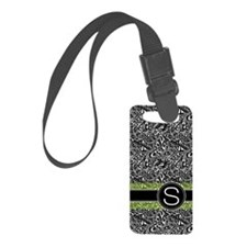 441_damask_monogram_S2 Luggage Tag
