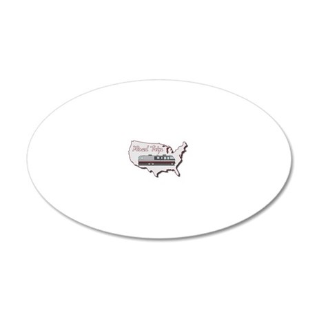 AS_325_345_MH_USA_map_Road_T 20x12 Oval Wall Decal