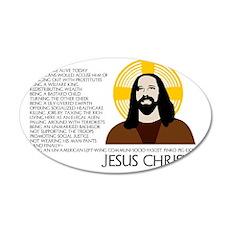 jesus-01 35x21 Oval Wall Decal