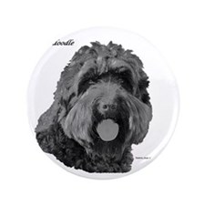 "Labradoodle 3.5"" Button"