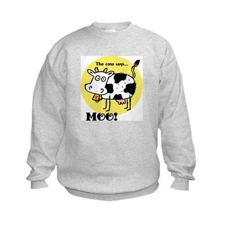 The Cow Says Moo Kids Sweatshirt