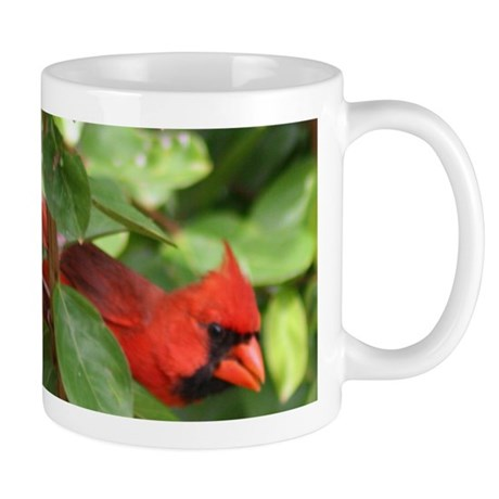 Northern Cardinal Red Bird Mug