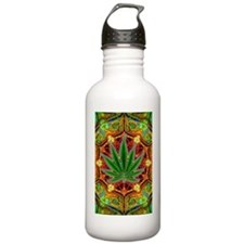 marijuana-mandala-fina Water Bottle