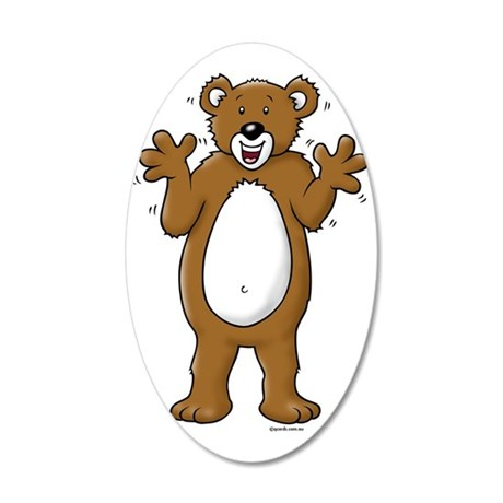 Bear05 35x21 Oval Wall Decal