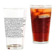 Designer-Disclaimer Drinking Glass