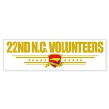 22nd NC Volunteers (Flag 10) pock Bumper Sticker