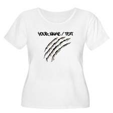 Torn Claw Mark Plus Size T-Shirt
