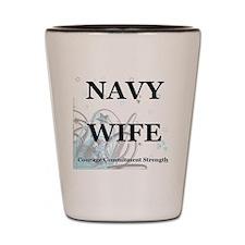 navywifestars Shot Glass