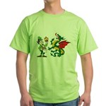Snakes, Dragons and Leprechauns Green T-Shirt