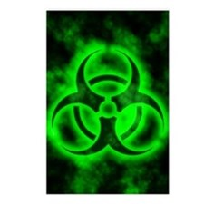 glowingBiohazardGreenIP Postcards (Package of 8)